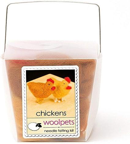 Chickens Needle Felting Kit 1029 Intermediate Woolpets