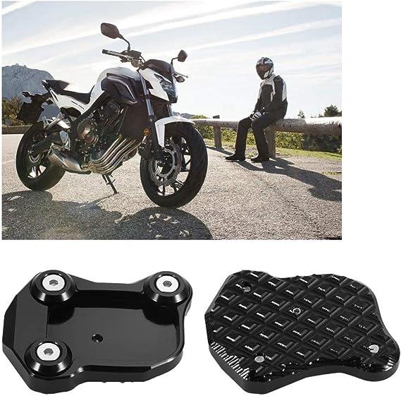 Kickstand Vergr/ö/ßerungshalterung kompatibel mit Kawasaki Ninja 650 Z 650 2016-2020 Outbit Motorrad Fu/ß Seitenst/änder Pad