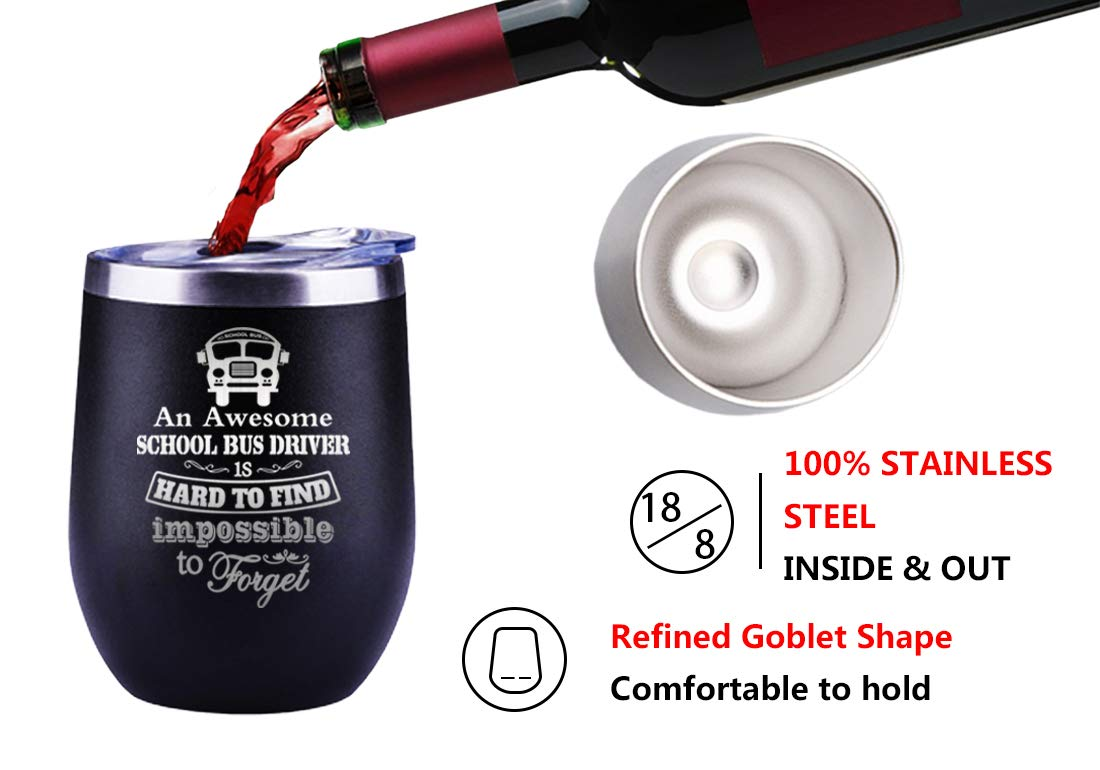 Retirement Gifts For School Bus Driver School Bus Driver Appreciation Gifts Christmas Present Cup Wine Glass