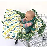 Green 2-in-1 Shopping Cart Cover High Chair Cover, High...