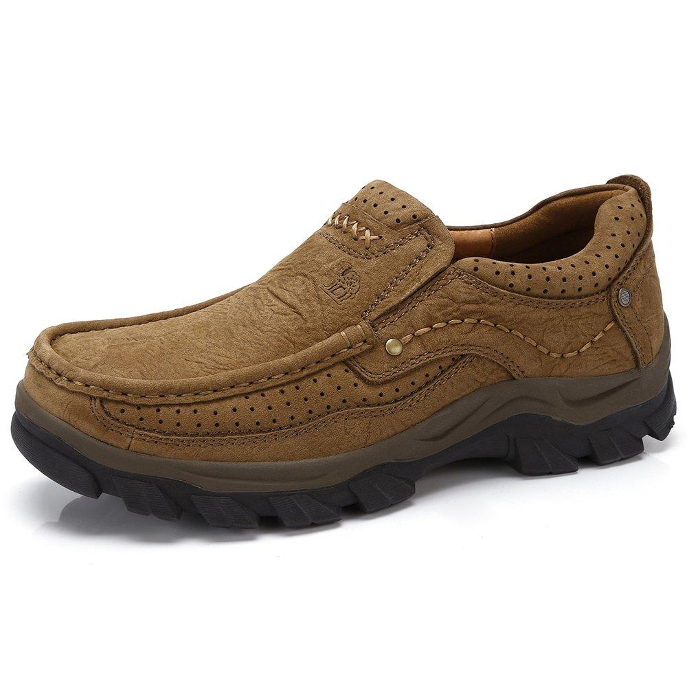 Mocasines para Hombre Casual Conducción Mocasín Pisos Sneaker Mocasines UK9=EU43=10.43IN feet length|Bronze