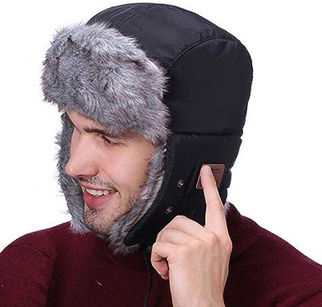 IVY Bluetooth 5.0 Auriculares Caliente Unisex del Sombrero del Invierno de algodón Caliente del Invierno música de los Auriculares Bluetooth Wireless Headset Cap Nieve del Sombrero: Amazon.es: Deportes y aire libre