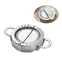 Aolvo Dumpling Maker, Pastry Tools Stainless Steel Empanada Press Mold Wrapper Dough Cutter Pierogi Ravioli Mould Kitchen Accessories