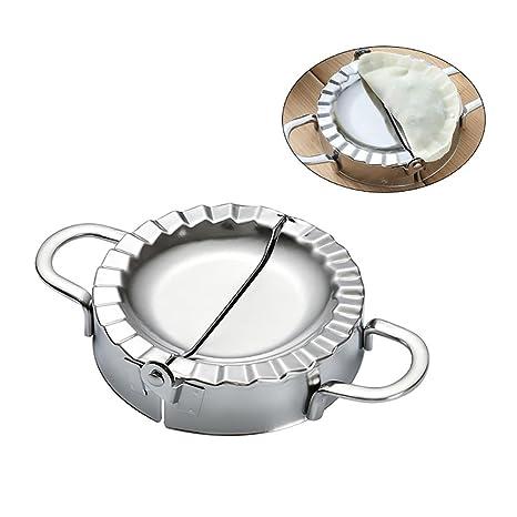 Molde de acero inoxidable para hacer dumplings, de Aolvo; molde de acero inoxidable para