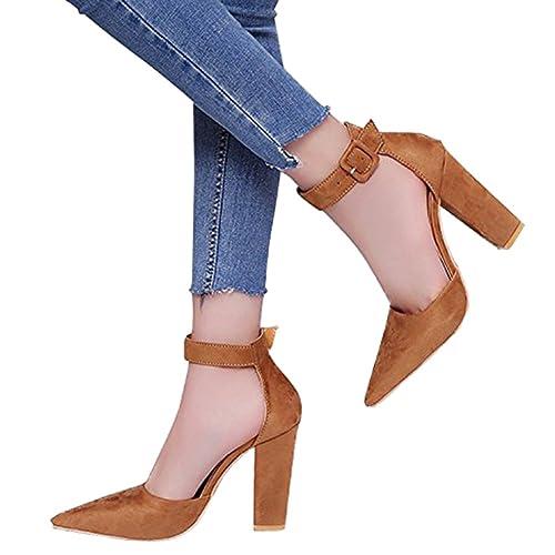 Minetom Donna Blocco Moda Sandalo Tacco A Blocco Donna scarpe Casuale Beach   3e4e8a