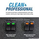 OLS 2-Slot Rocker Switch Panel [Industry Standard Fit] [Heavy Duty] [Expandable Design] [Professional Look] Automotive Mount Toggle Switch Housing