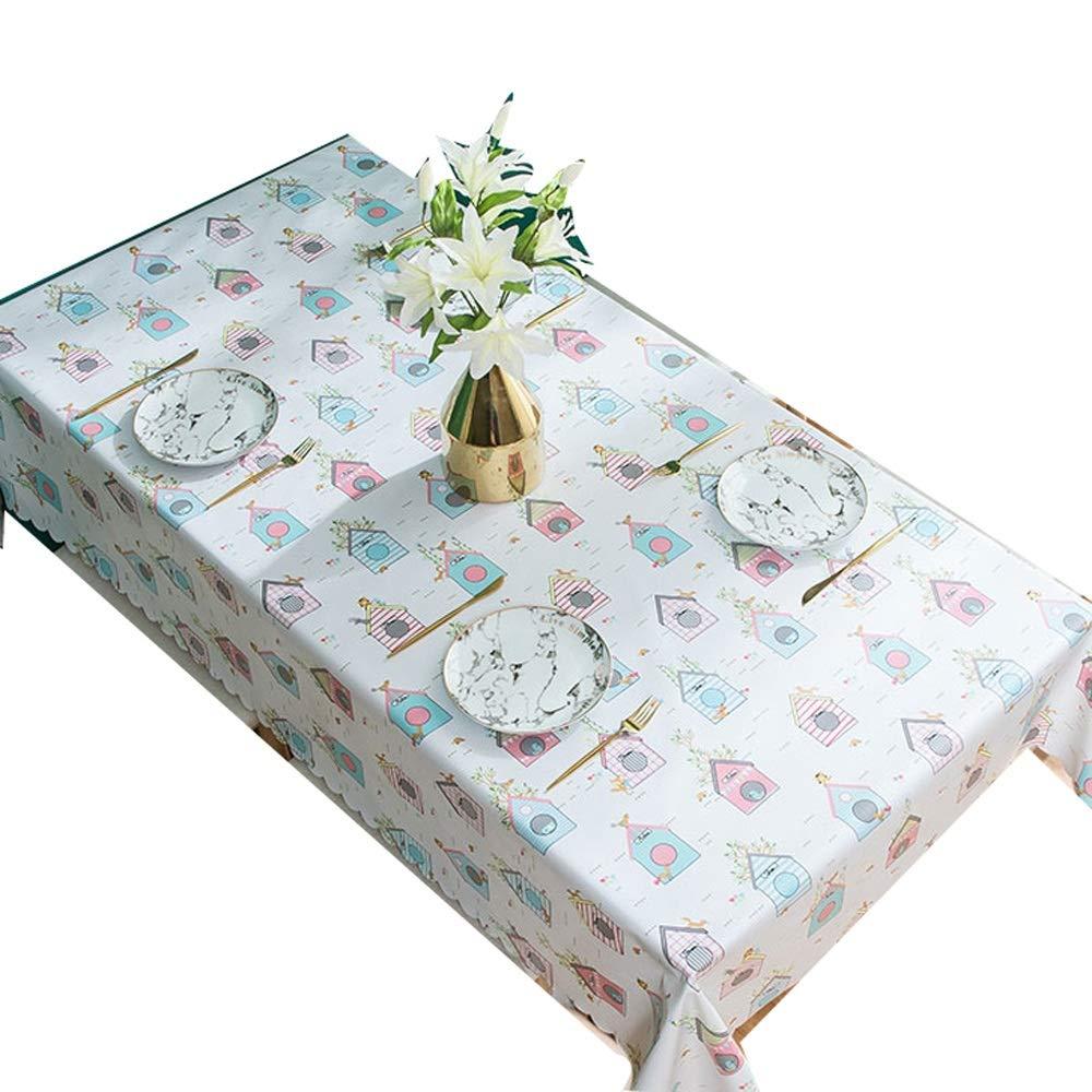 A 135x180cm Prougeecteur de couverture de table en PVC Nappe - BÂche en vinyle robuste en nappe de PVC Le plastique imperméable peut être essuyé contre le renverseHommest de la nappe Peva Printemps en plein air pour p