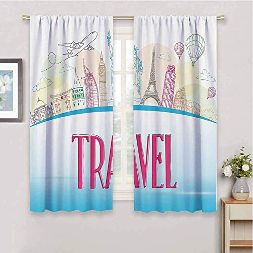 Travel Black Out Curtain Panel