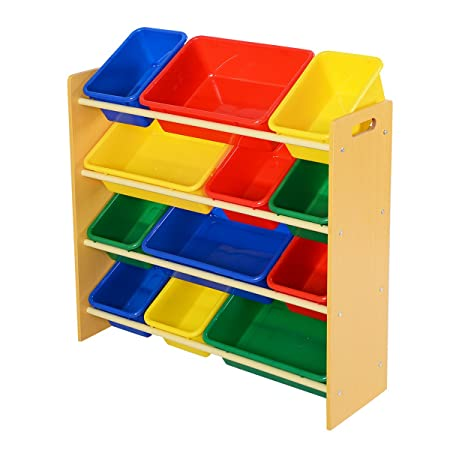 fds toys storage childrens kids toy bedroom storage shelf unit 12 rh amazon co uk Cube Storage Units Wood Shelf Storage Units