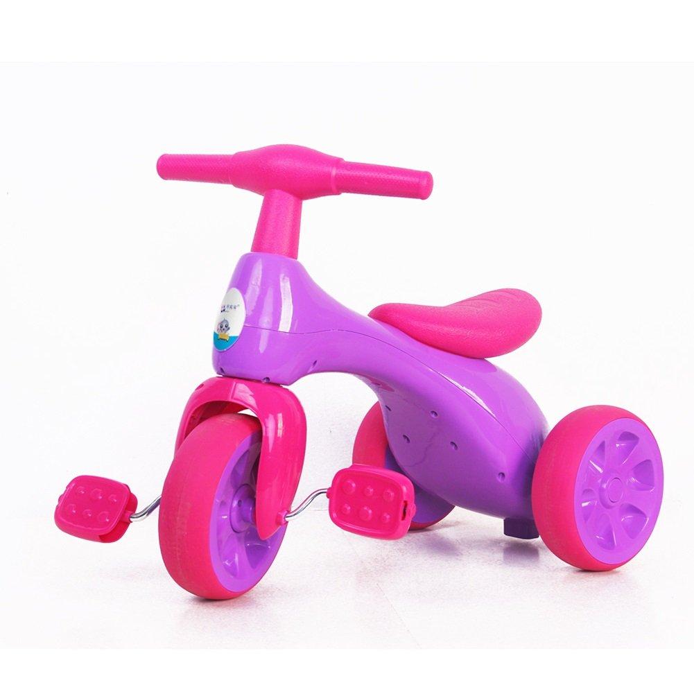 XQ 赤ちゃん 子供 18ヶ月以上 衝撃吸収 耐摩耗性 ホイール素材はTPRです 三輪車 子ども用自転車 ( 色 : パープル ぱ゜ぷる ) B07C6Q8SMH パープル ぱ゜ぷる パープル ぱ゜ぷる