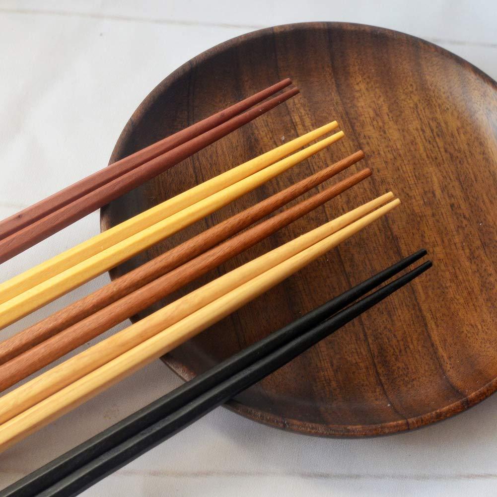 Aoosy - 5 pares de palillos de madera estilo japonés 5 pares Cj-48-wood