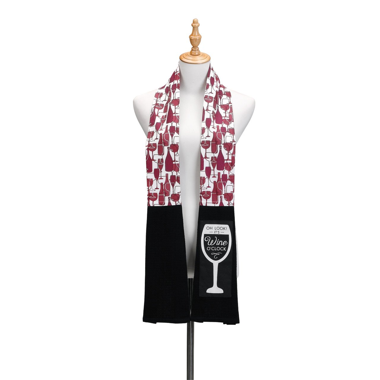 It's Wine O'Clock Extra Long Cotton Blend Over The Shoulder Kitchen Towel Boa