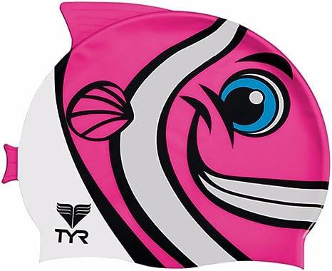 TYR Happy Fish Swim Silicon Cap Swimming Swim Caps