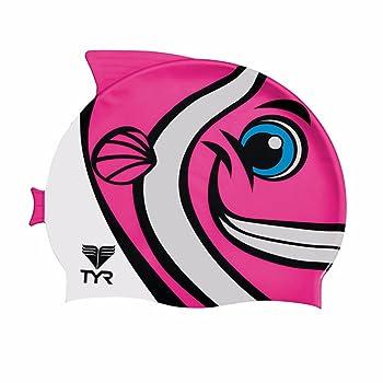TYR Sport Kid's Charac Happy Fish Swim Cap