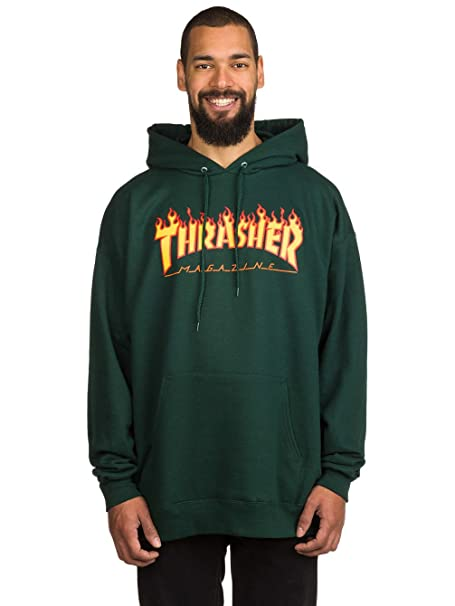2f6499d9dae Thrasher Flame Logo (Forest Green) Hoodie-Medium  Amazon.ca  Clothing    Accessories
