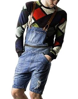 b55ea4cf95aa Amazon.com  Gemijack Mens Romper Short Sleeve One Piece Slim Fit ...