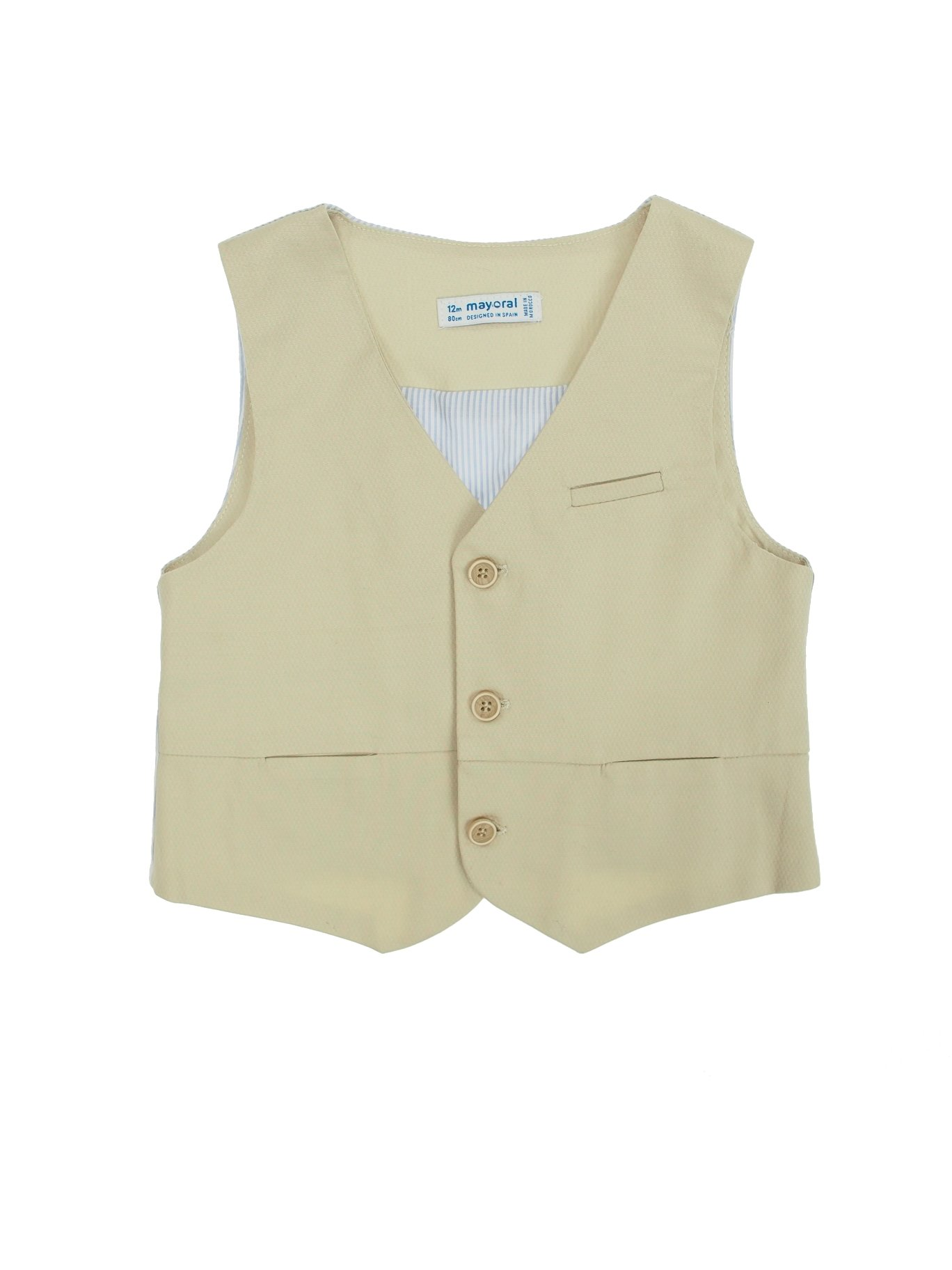 Mayoral 28-01442-073 - Dressy Strechy Vest for Baby-Boys 12 Months Beige by Mayoral