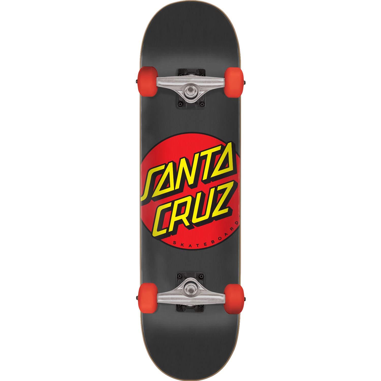 Santa Cruz Skateboards Classic Dot Black//Red Complete Skateboard 8 x 31.6