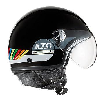 AXO Casco de Moto Subway Jet Negro XL (61-62 cm)