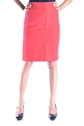 3269b186be915f Image Unavailable. Image not available for. Color: Armani Collezioni Women's  Mcbi15283 Red Viscose Skirt