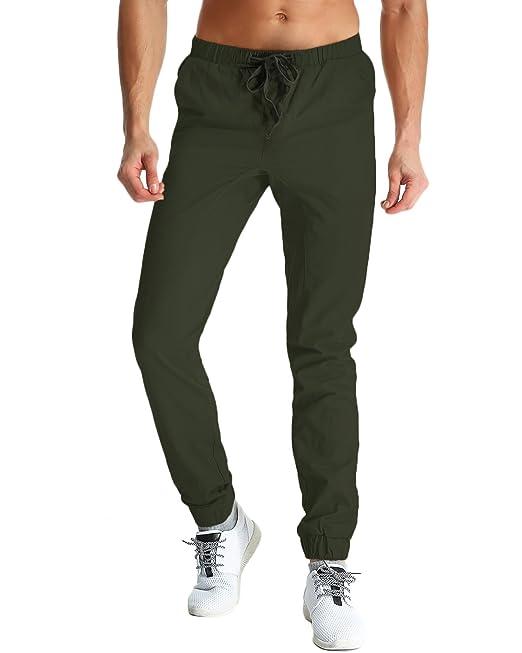MODCHOK Hombre Pantalones Largos Chándal Cargo Jogging Pantalones ...