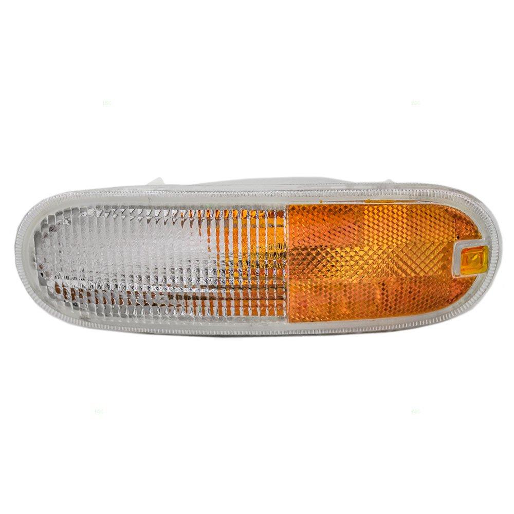 Drivers Park Signal Front Marker Light Lamp Lens Replacement for Volkswagen 1C0953155L AutoAndArt