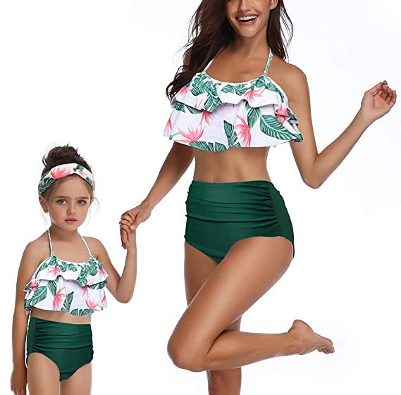 de7a5dabdea Amazon.com: Baby Girls Bikini Swimsuit Set Family Matching Mother Girl  Swimwear: Home & Kitchen
