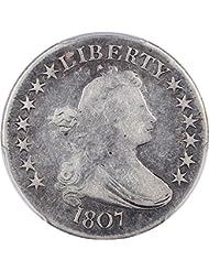 1807 P Bust Half Dollars Draped Bust Half Dollar 98 PCGS