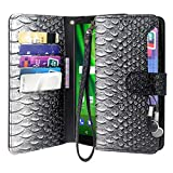 Moto G6 Play Case, Moto G6 Forge Case, Lacass Cat Tree Pattern PU Leather Flip Wallet Case Cover Kickstand with Card Slots and Wrist Strap for Motorola Moto G Play 6th Gen (XT1922) (A-Grey) Review