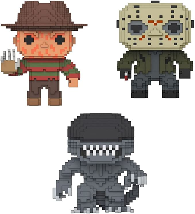 Funko POP! 8-Bit Freddy Krueger + 8-Bit Jason Voorhees + 8-Bit Xenomorph – Vinyl Figure Set NEW: Amazon.es: Juguetes y juegos