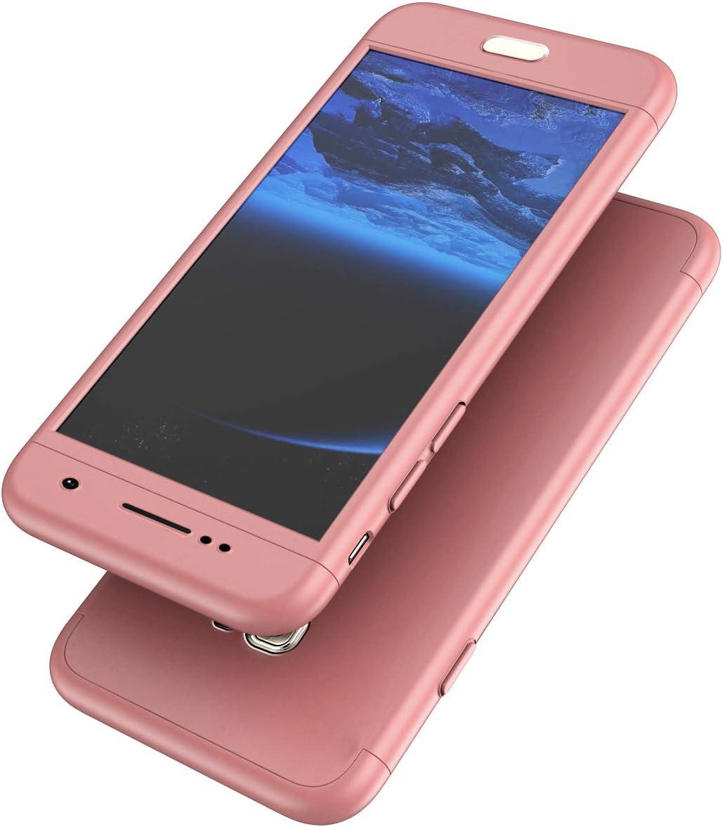 Surakey Galaxy S7 Hülle 360 Grad Hülle Full Cover Panzerglas 3 In 1 Pc Hardcase Hart Hülle Full Body Case Cover Schutzhülle Hybrid Handyhülle Kompatibel Mit Samsung Galaxy S7 Rose Gold Baumarkt