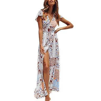 Vestidos de Fiesta Mujer Largo - Vestido Coctel Mujer Midi Vestidos Verano Mujer Casual Vestidos Elegantes Mujer Vestidos Largo Verano Mujer Ceremonia ...