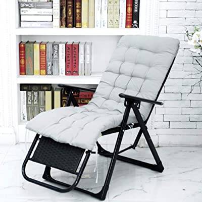 HMWPB Rocking Chair Cushions, Lounge Chair Cushions Thicken Lengthen Folding Wicker Chair Pads Patio Furniture Overstuffed Bench Cushion-Gray 120x50x8cm(47x20x3inch): Kitchen & Dining