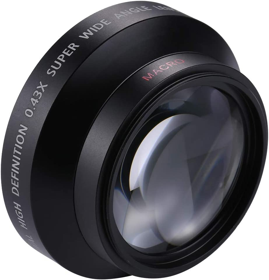 GuiPing 62mm 0.45X Super Wide Angle Lens with Macro Lens Durable
