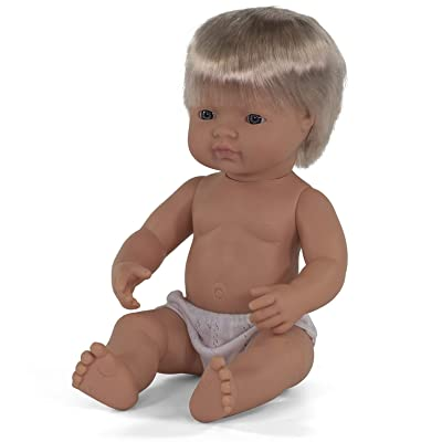 Miniland Educational - 15'' Anatomically Correct Baby Doll, Caucasian Boy: Toys & Games