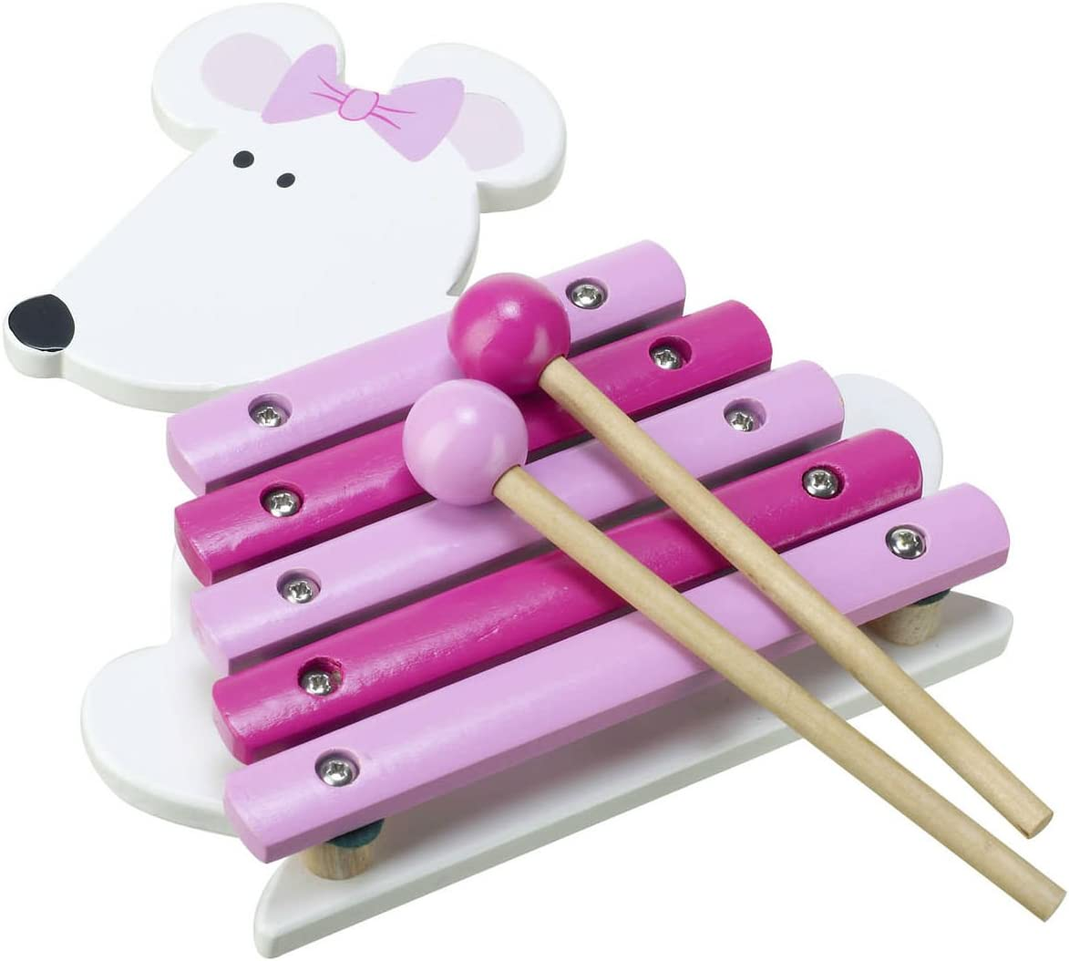 Pink Mouse Wooden Xylophone