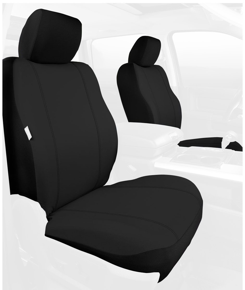 Poly-Cotton, Black Fia SP88-24 BLACK Custom Fit Front Seat Cover Bucket Seats