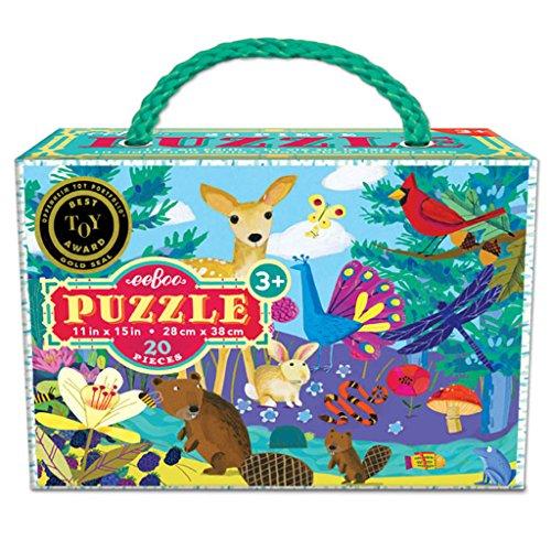 eeBoo Life on Earth Puzzle for Kids, 20 pieces - Eeboo Life