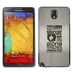Qstar Arte & diseño plástico duro Fundas Cover Cubre Hard Case Cover para SAMSUNG Galaxy Note 3 III / N9000 / N9005 ( Life Quote Women Alone Streets Men People)