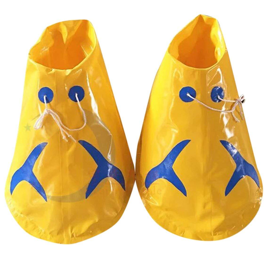 Fantasyworld 70cm große Füße Schuhe Outdoor-Eltern-Kind-Sportgerät Fun Sportspiele Props für Erwachsene Aufblasbare Schuhe
