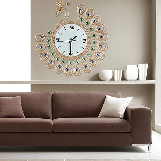 Amazon.com: Relojes de pared – lujo cristal artificial ...