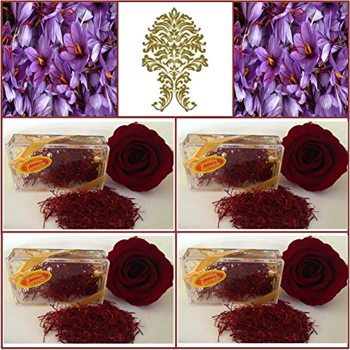 ancha Spanish Saffron. Rose Red. 200+ Grade. (4g) (200 Red Roses)