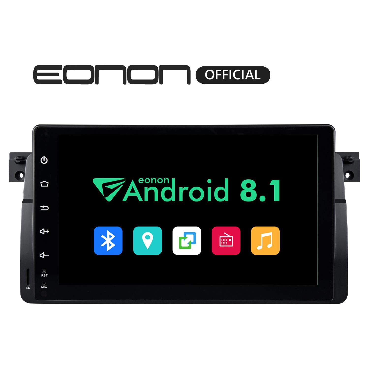 2019 Single Din Car Stereo Radio,Eonon 9 Inch Android 8.1 Car Head Unit in Dash Touch Screen Car GPS Navigation, Car Stereo DVD Player Support WiFi,Fastboot,Backup Camera-GA9150KW