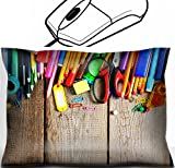 MSD Mouse Wrist Rest Office Decor Wrist Supporter Pillow design: 30872374 School tools On a wooden background