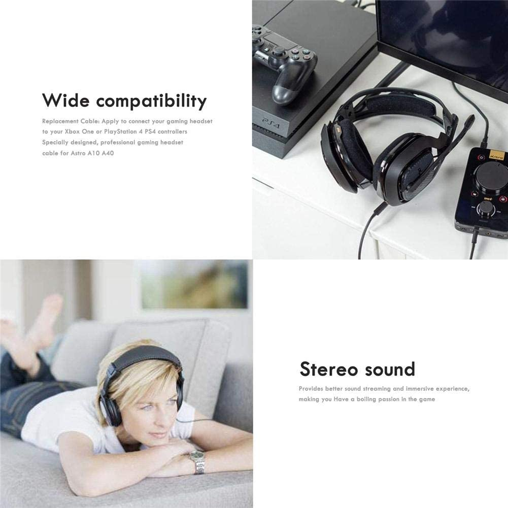 Owlhouse Headset Gaming Headphones Audio Cable for Logitech Astro A10 A40 A30 A50 Headset Gaming Headset