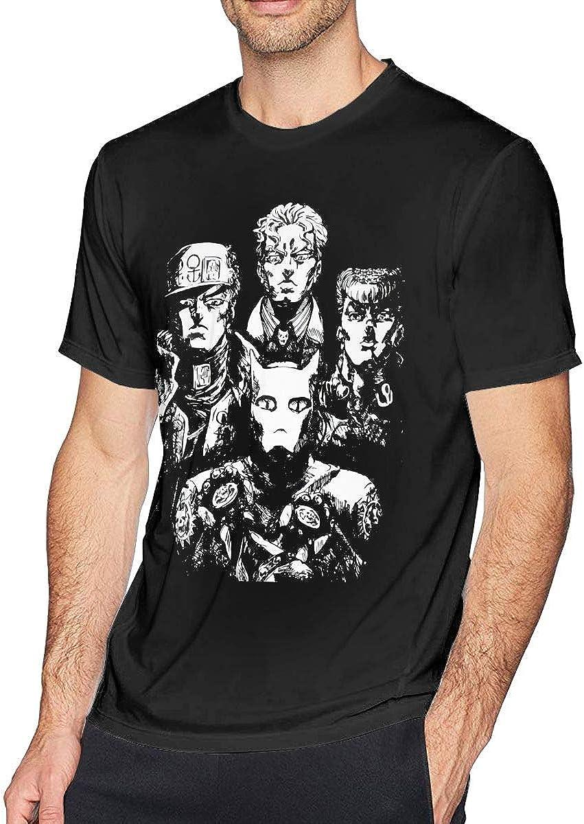 FAEOT Mens Cool Jojos Bizarre Adventure T Shirts Black