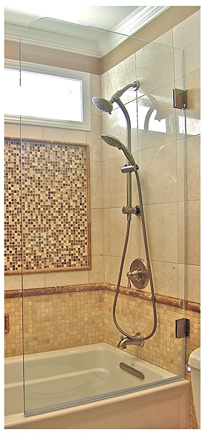 Amazon.com: Ark Showers Frameless Bathtub Shower Screen, Pivot Door ...