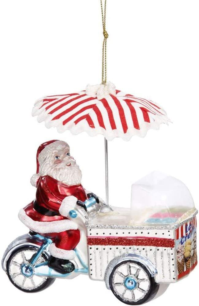 Mark Roberts 2020 Collection Santa-Foots Ice Cream Cart 5-Inch Figurine