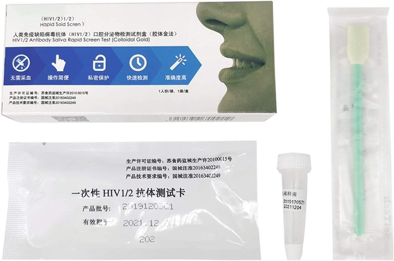 HIV, Self-Checking Test Paper self-Checking Home Medical Disposable Saliva HIV (Color : Saliva Check)