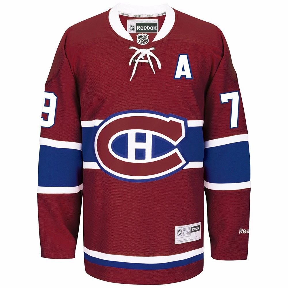 Amazon.com   Andrei Markov Montreal Canadiens NHL Reebok Men s Red Name    Number Player  79 Jersey   Sports   Outdoors 5baa49fb5